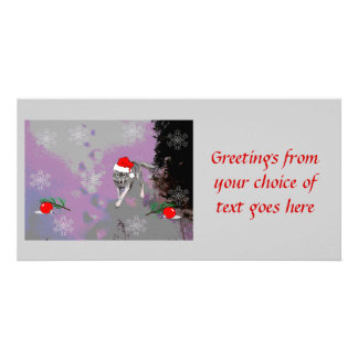 Wolf Christmas Customized Photo Card