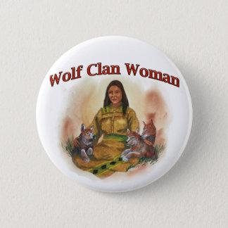 Wolf Clan Woman 6 Cm Round Badge