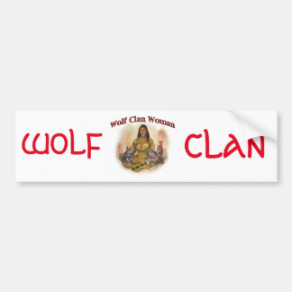 Wolf Clan Woman Bumper Sticker