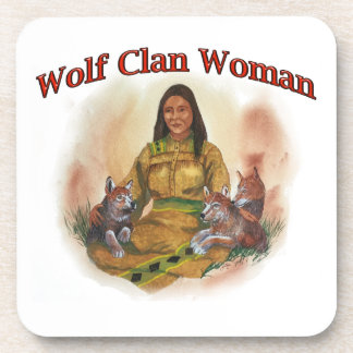 Wolf Clan Woman Coaster