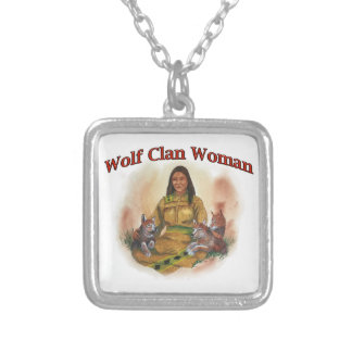 Wolf Clan Woman Silver Plated Necklace