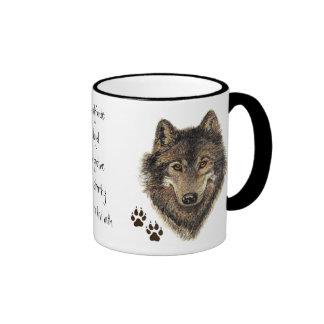 Wolf Code Quote, Wolves Animal Coffee Mug