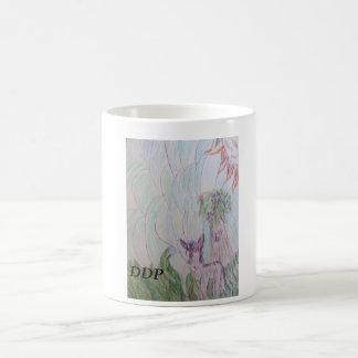 Wolf  colorful basic white mug