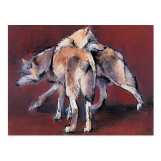 Wolf Composition 2001 Postcard