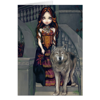 """Wolf Countess"" Greeting Card"