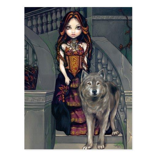 """Wolf Countess"" Postcard"