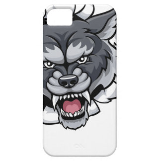 Wolf Cricket Mascot Breaking Background Case For The iPhone 5