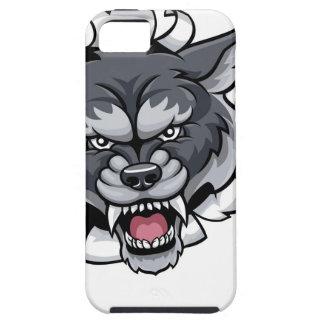 Wolf Cricket Mascot Breaking Background iPhone 5 Case