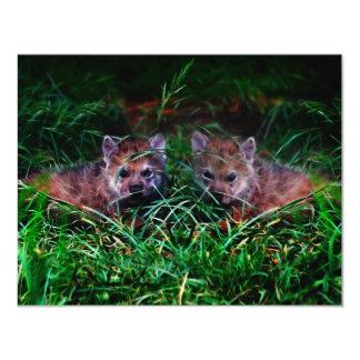 Wolf Cubs 11 Cm X 14 Cm Invitation Card