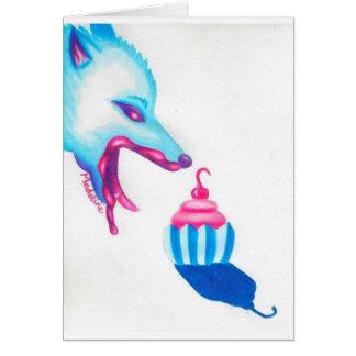 Wolf Cupcake Love Card