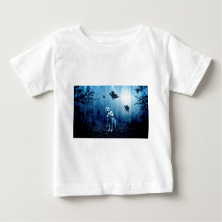 Wolf Dark Autumn Forest Baby T-Shirt