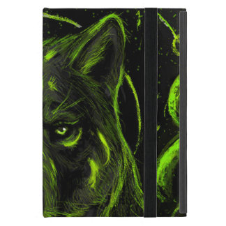 Wolf design graphic cool anime look case for iPad mini