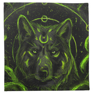 Wolf design graphic cool anime look napkin