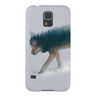 Wolf double exposure - wolf forest - wolf usa case for galaxy s5