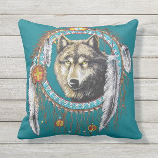 Wolf Dreamcatcher Cushion