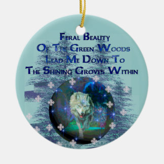 Wolf Dreams Gifts Ceramic Ornament