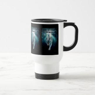 WOLF & EAGLE Wildlife Art Drinkware Travel Mug