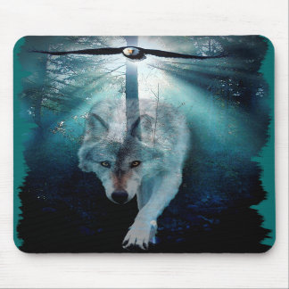WOLF & EAGLE Wildlife Series Mouse Pads