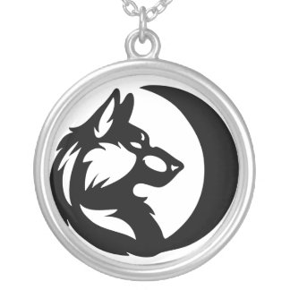 Wolf Element Tribal -Moon- Silver Plated Necklace