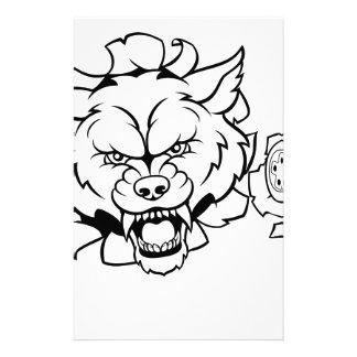 Wolf Esports Gamer Player Mascot Stationery