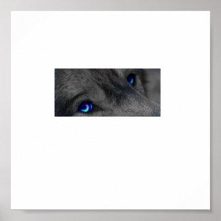 Wolf eyes print