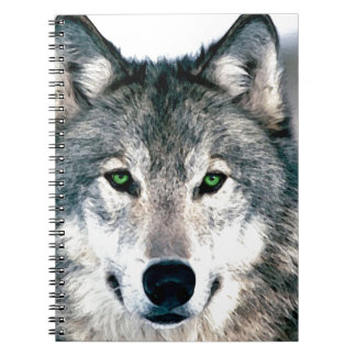 Wolf Eyes wild nature animal Print Note Book