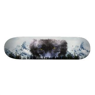 WOLF EYES Wildlife & Mountains Skateboard Deck