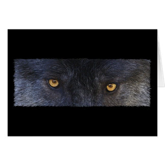WOLF EYES Wildlife Supporter Greeting-cards Card