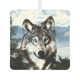 Wolf face car air freshener