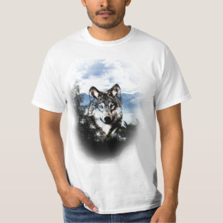 Wolf face in the sky T-Shirt