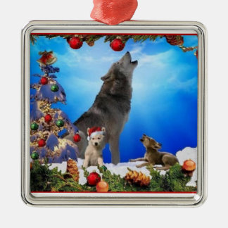 Wolf Family Singers Holiday Tree Ornament