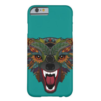 wolf fight flight teal barely there iPhone 6 case