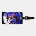 Wolf & Full Moon Bag Tags