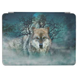 Wolf Full Moon in Fog iPad Air Cover