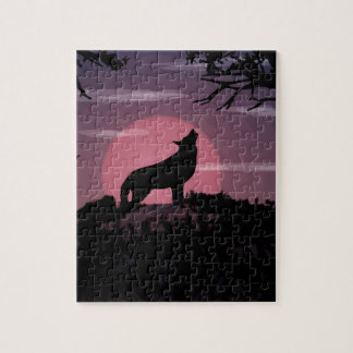 wolf full moon jigsaw puzzle