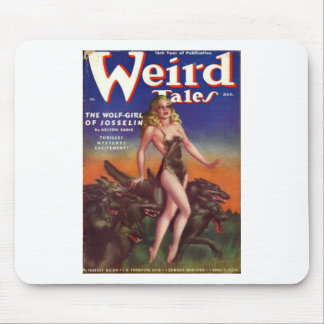 Wolf Girl Mouse Pad