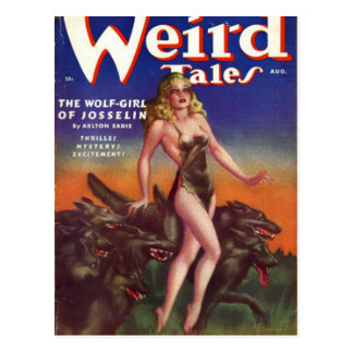 Wolf Girl Postcard