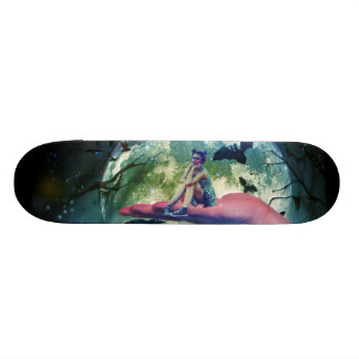 Wolf Girl Raven Bat Moon Custom Skate Board
