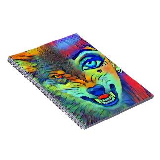 Wolf Girl Spiral Notebook