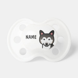 Wolf Gray Alaskan Malamute Dog Illustration Dummy