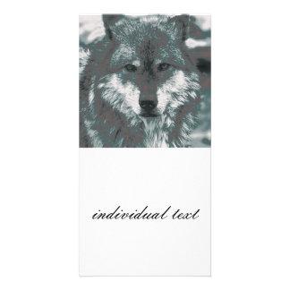 Wolf,green Photo Card
