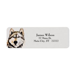 Wolf Grey Return Address Label