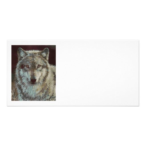 Wolf hand painted photo cards