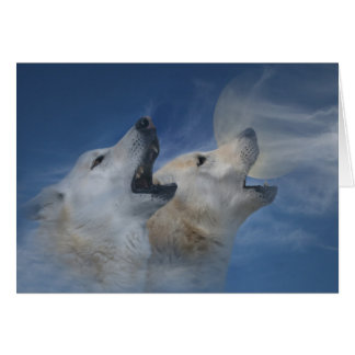 Wolf Happy Birthday Howling Good Time Card