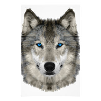Wolf head customized stationery