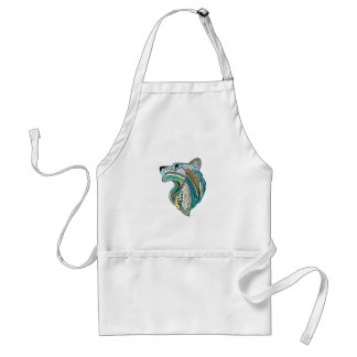 Wolf head ethnic ornament standard apron