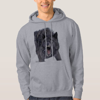 WOLF HOODED PULLOVER