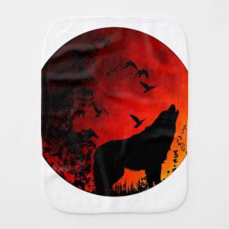 wolf howl burp cloth