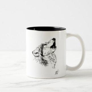 wolf howl mug