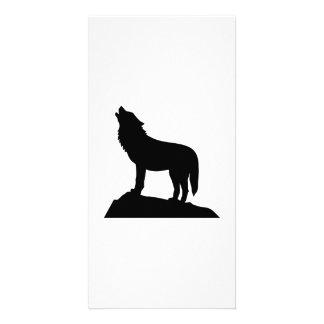 Wolf howl photo greeting card